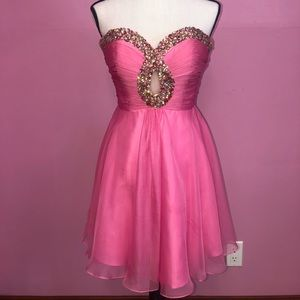 Sherri Hill Pink Mini Dress